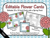 FREE Editable Flower Cards {A Hughes Design}