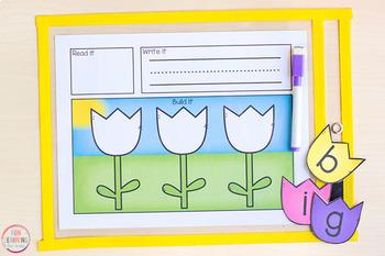 Editable Flower Word Building Mats