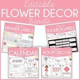 Editable Flowers Calendar, Decor, & Organization