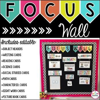 Focus Wall Editable