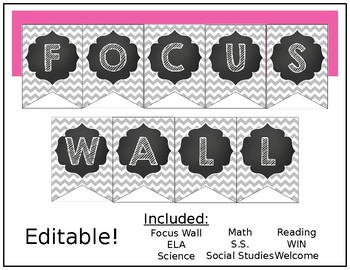 Editable Focus Wall Banner