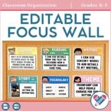 Editable Focus Wall - Bulletin Board