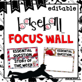 Editable Focus Wall | Reading | Baseball Theme Classroom Decor