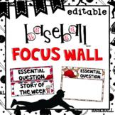 Editable Focus Wall   Reading   Baseball Theme Classroom Decor