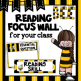Editable Focus Wall | Reading | Bee Theme Classroom Decor
