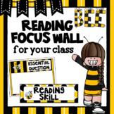 Editable Focus Wall   Reading   Bumblebee Theme Classroom Decor