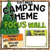 Editable Focus Wall   Reading   Camping Theme Classroom Decor
