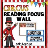 Editable Focus Wall   Reading   Circus Theme Classroom Decor