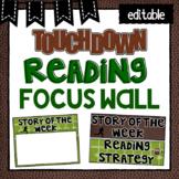 Editable Focus Wall   Reading   Football Theme Classroom Decor