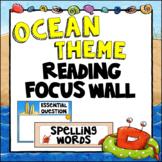 Editable Focus Wall | Reading | Ocean Theme Classroom Decor