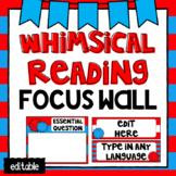 Editable Focus Wall | Reading | Whimsical Theme Classroom Decor