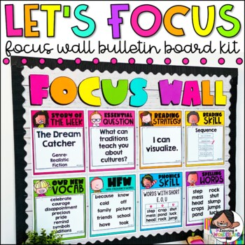 Focus Wall   Bulletin Board   Editable   Classroom Decor