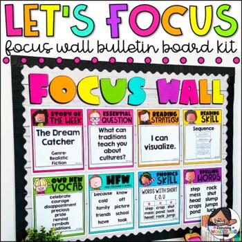 Focus Wall Bulletin Board Editable Classroom Decor Tpt