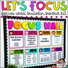Focus Wall - Two Sizes and Editable! {Melonheadz Edition}