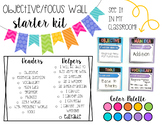 Editable Focus and Objective Wall-Black and Brights
