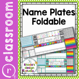 Editable Name Plates Math Foldable with Tech and Math Skills