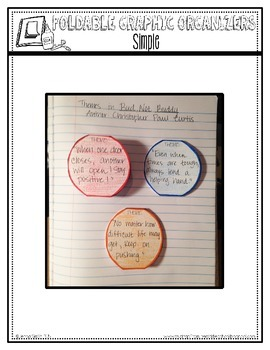 Editable Foldable Organizer Templates for Interactive Student Notebooks