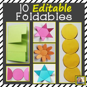 Editable Foldable Templates