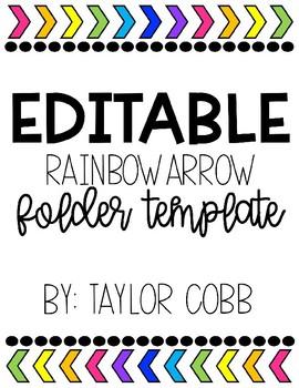 Editable Folder/Binder Cover (White)