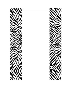 Editable Folder/Binder Cover Page- Zebra Theme