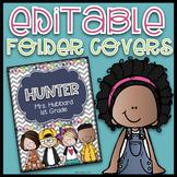 Editable Folder Covers| Editable Take Home Folder Covers