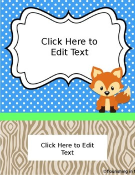 Editable Folder Covers - Woodland Theme
