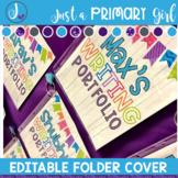 Editable Folder Covers - barnwood writing