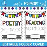 Editable Folder Covers - bunting