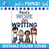 Editable Folder Covers - kids writing
