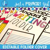 Editable Folder Covers - pencil