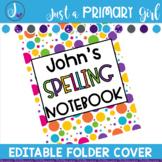 Editable Folder Covers - polka dot