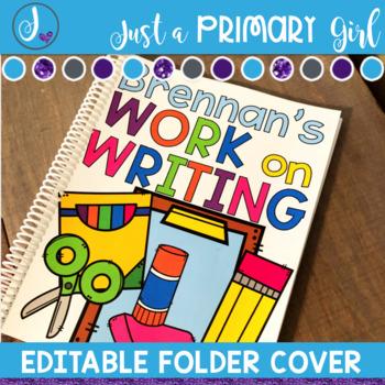 Editable Folder Covers - school supplies