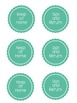 Editable Folder Front Page & Labels w/ Chevron Apples
