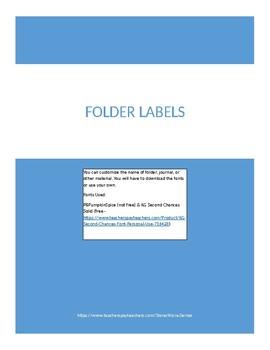 Editable Folder Labels