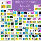 Editable Labels for Folders and Notebooks with Children's Faces