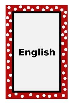 Editable Folder headings by Subject (English Version)