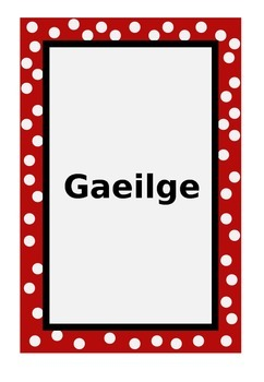 Editable Folder headings by Subject (Gaeilge Version)