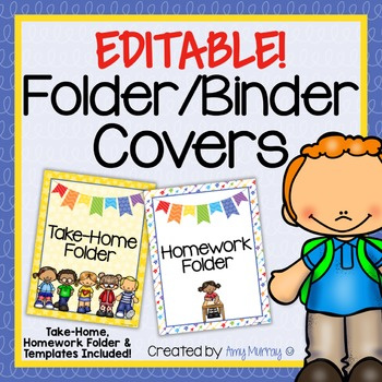 Editable Folder or Binder Covers