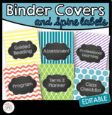 Editable Folder/Binder Covers with Chalkboard Labels