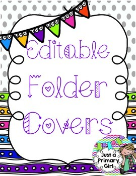 Editable Folders, Writing Folders or Tpt Product Covers