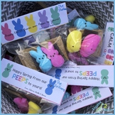 Editable Folding & Attachable SPRING Peep S'more Treat Bag Toppers!