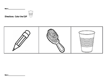 Editable Following Directions Sight Word Activity