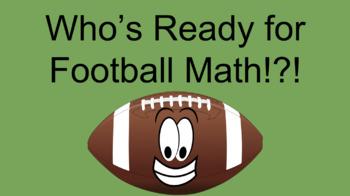 Editable Football Math for Story Problems