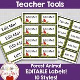 Editable Forest Animal Theme Lables!!