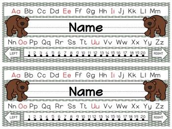 Editable Forest Nameplates