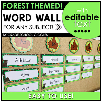 Forest Word Wall Editable