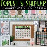 Editable Forest and Shiplap Classroom Decor Bundle