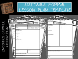Editable Formal Lesson Plan Template
