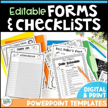 Editable Forms and Checklists - Click, Type, Print!