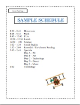Editable Forms for Back to School Flight Theme